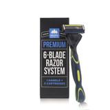 Premium 6-Blade Razor System (1 Handle; 5 Cartridges)