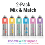 SHAVING CREAM IN COLOR (Mix & Match) |  2-PACK