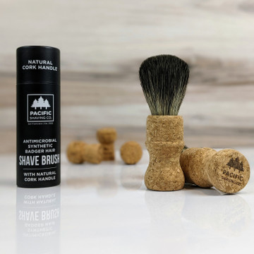 Limited Edition | Cork Handle Synthetic Badger Hair Shaving Brush