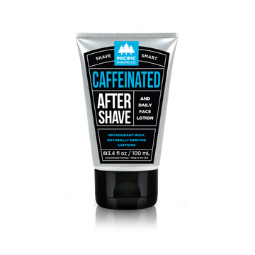 Caffeinated Aftershave by Pacific Shaving Company. This outstanding aftershave moisturizer utilizes the many benefits of naturally-derived caffeine to help liven up your morning shave routine. It will give you an exceptional shave, help reduce the appearance of redness, and keep your skin looking and feeling healthy all day. It may not replace your morning coffee, but it will give a little extra kick to your morning routine. A little goes a long way.