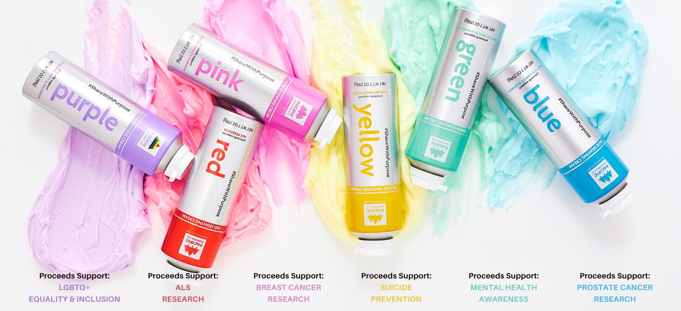 #ShaveWithPurpose Colorful Shaving Cream