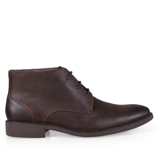 Shoewarehouse Harness 2 Brown Waxed Suede