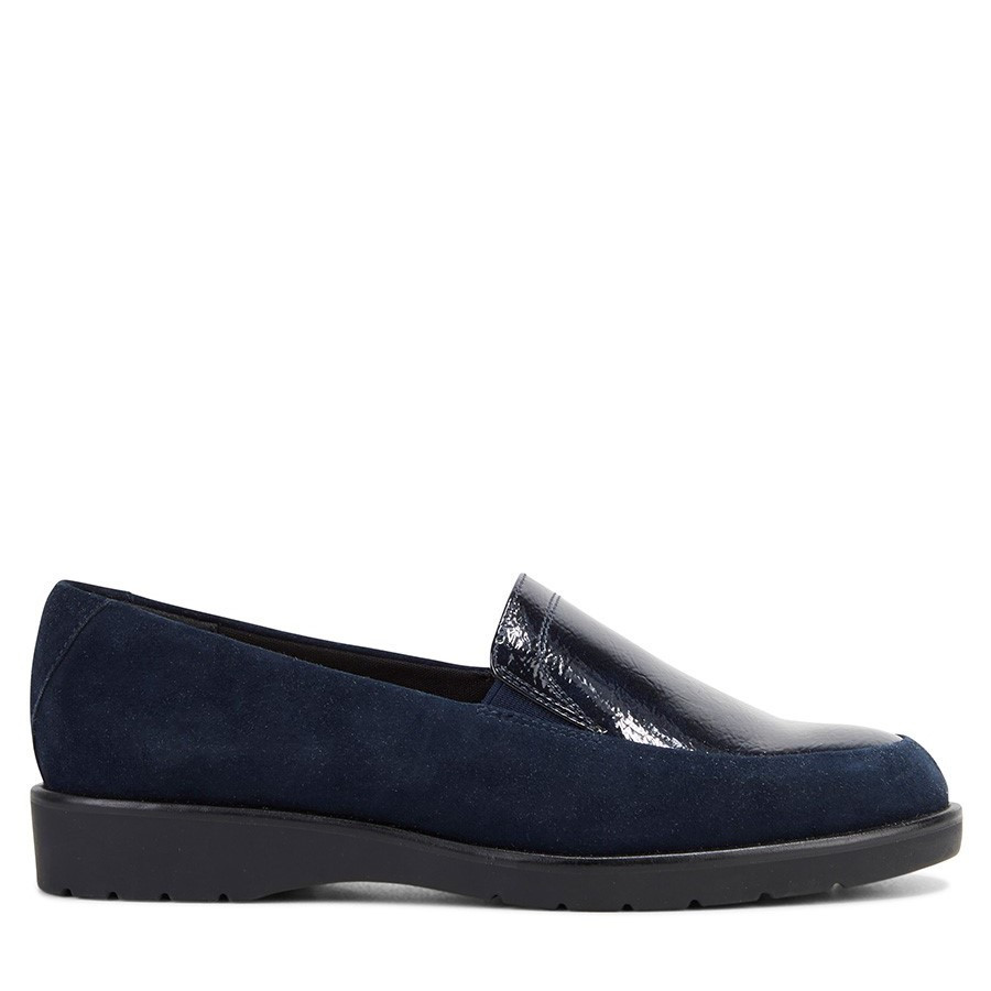 Shoewarehouse Jigsaw Navy Suede