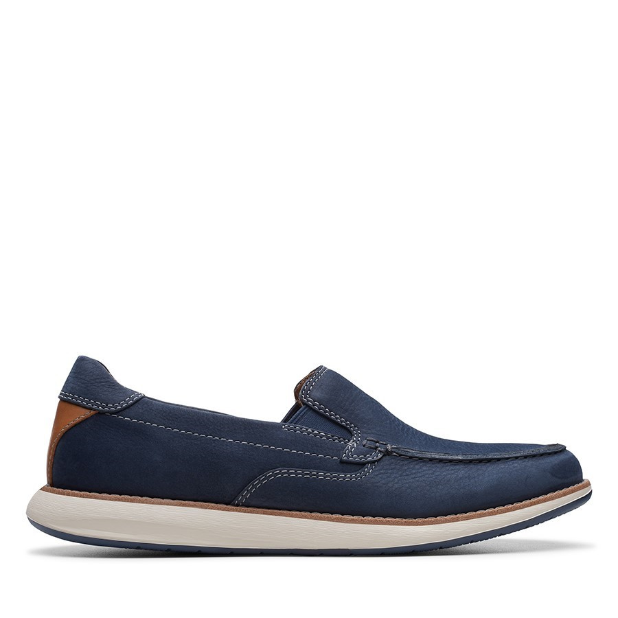 Shoe Warehouse Un Pilot Step Navy Nubuck
