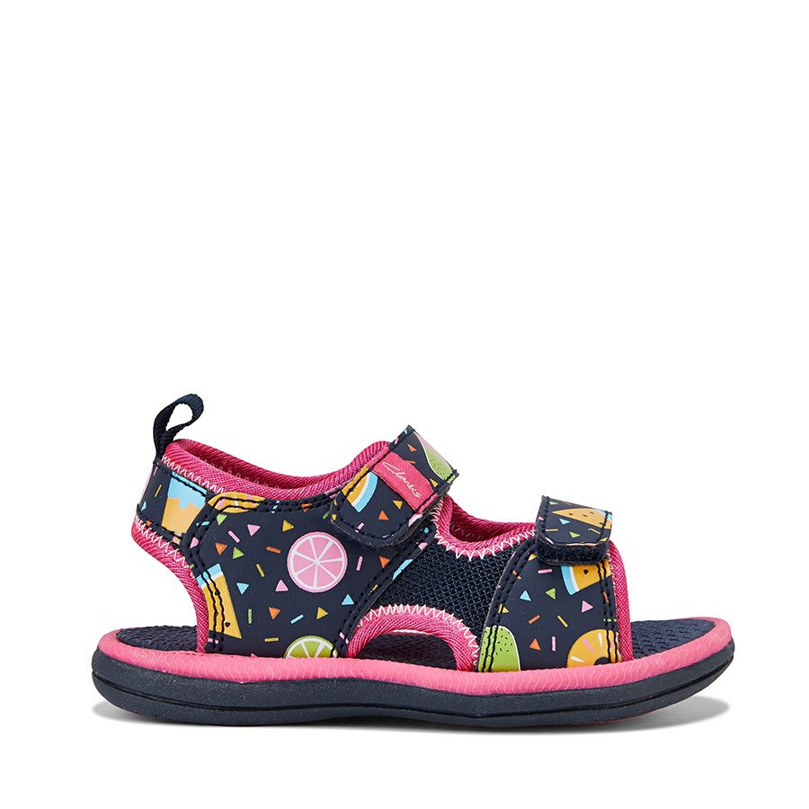 Shoe Warehouse Frida Navy Fruit/Fuchsia