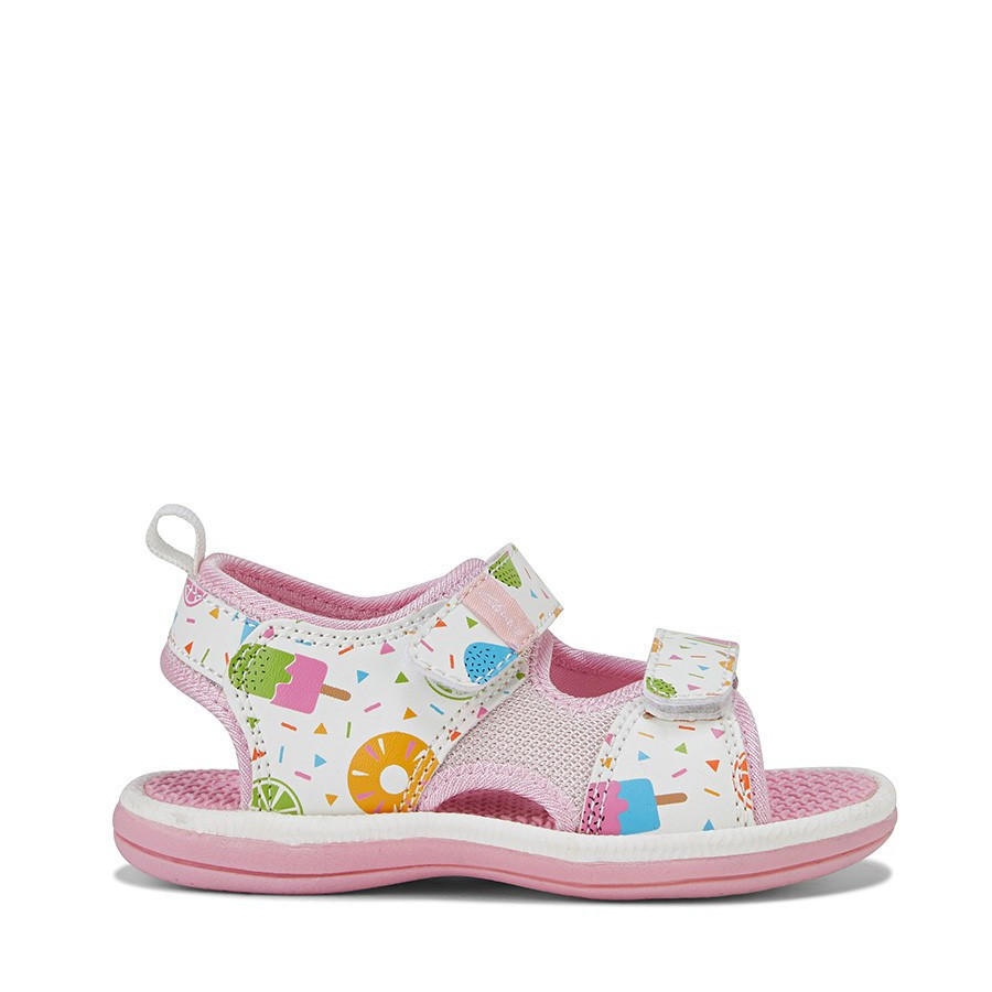 Shoe Warehouse Frida White Fruit/Pink