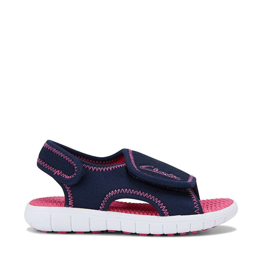 Shoewarehouse Bondi Navy/Fuchsia