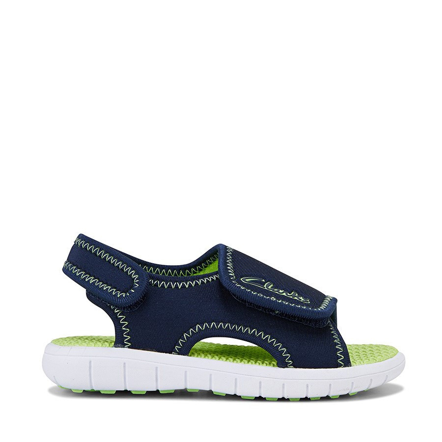 Shoewarehouse Bondi Navy/Lime