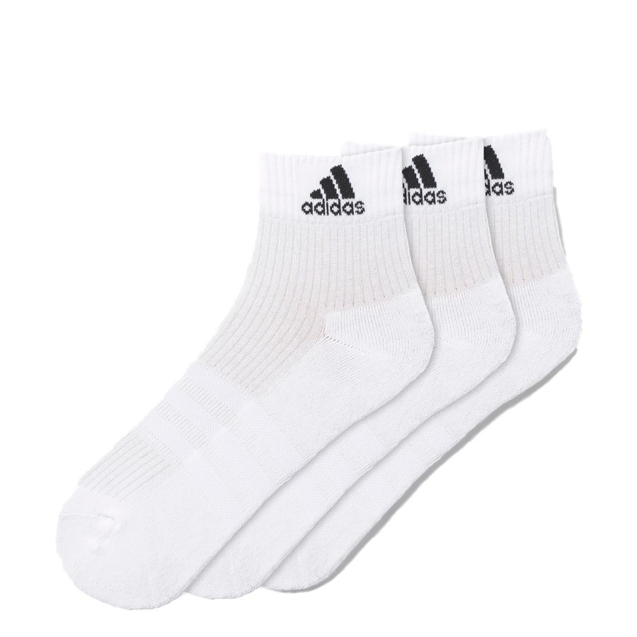 Shoewarehouse Adidas 3pk Ankle Socks White