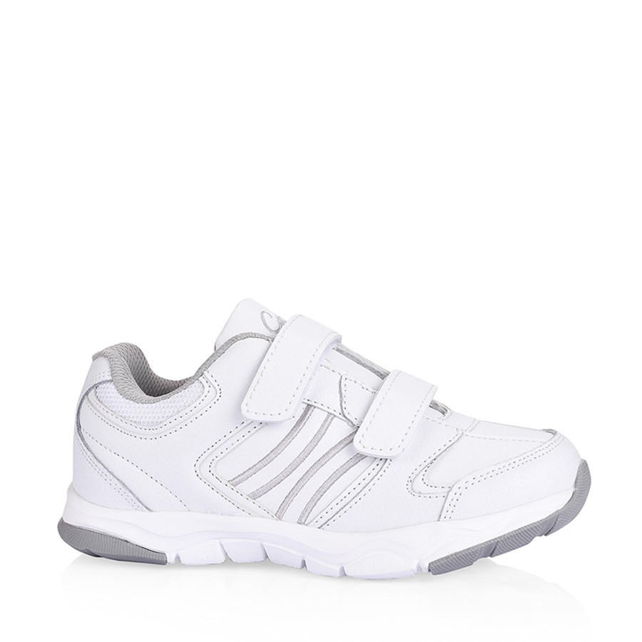 Shoewarehouse Hewitt White/Grey