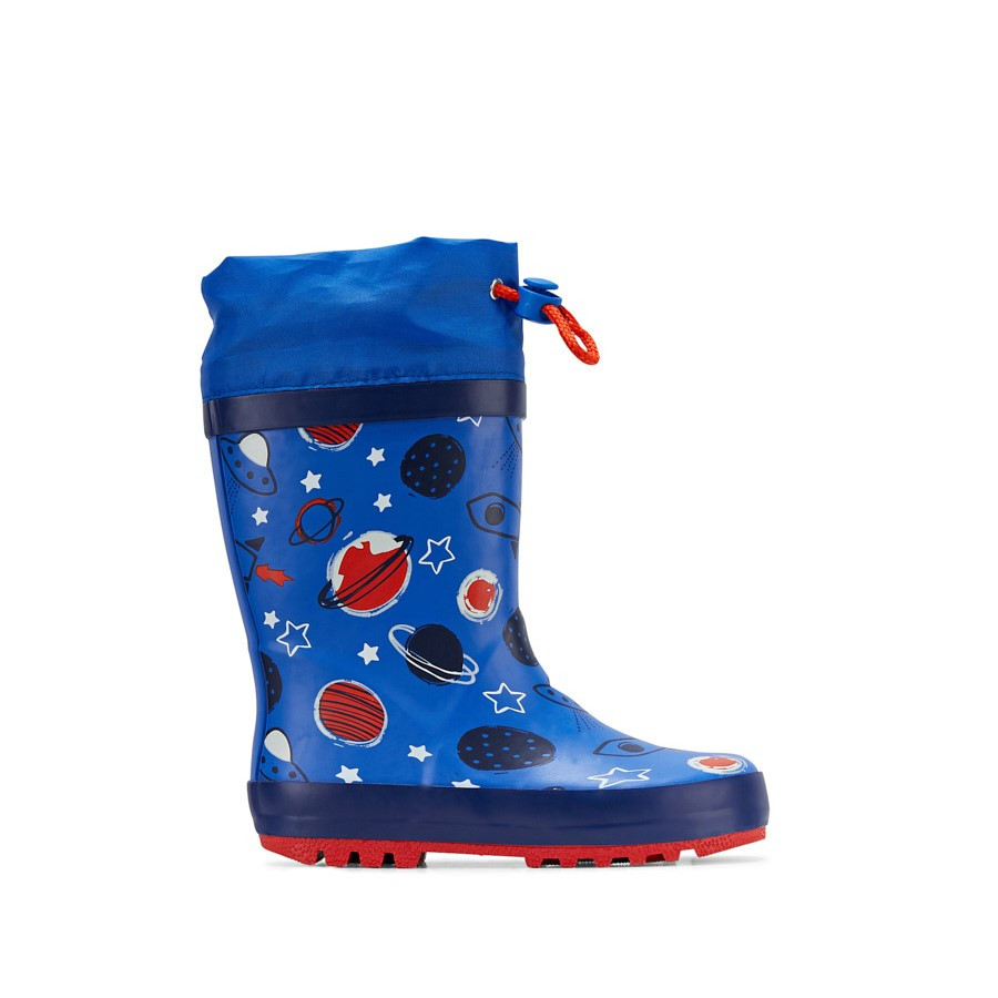 Shoe Warehouse Puddles Blue/Red Planets