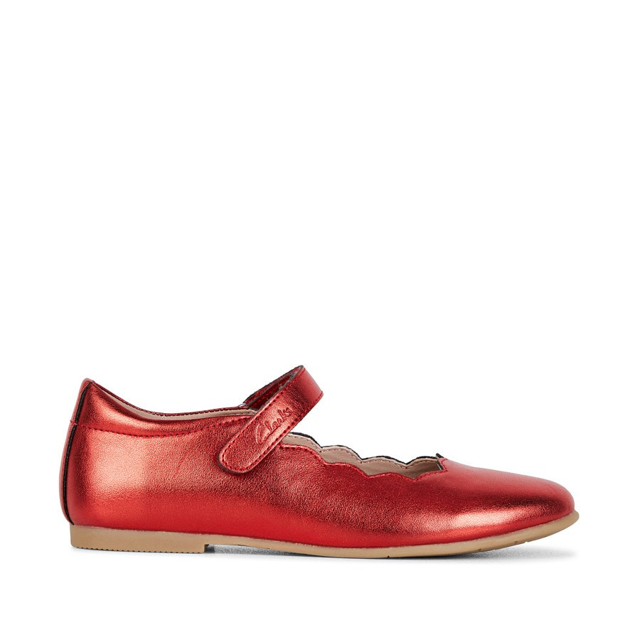 Shoe Warehouse Audrey Snr Red Metallic