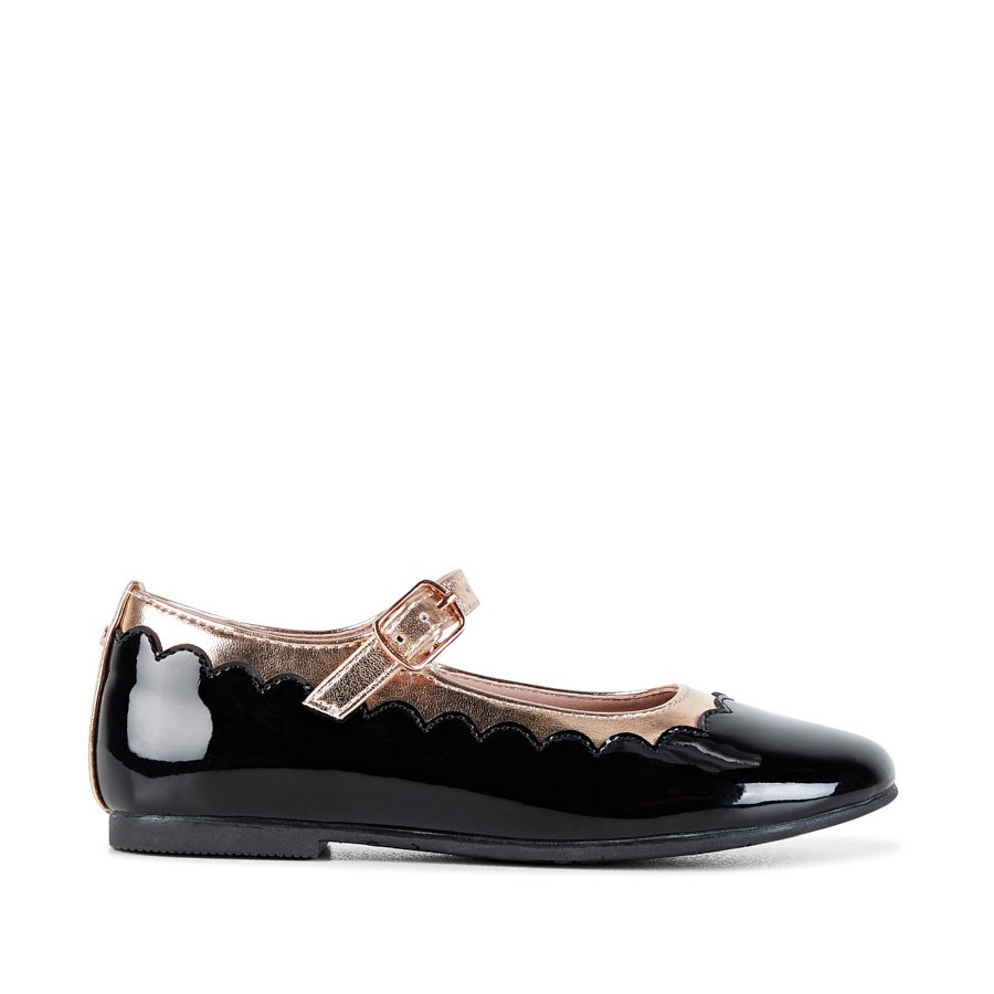 Shoe Warehouse Amelie Snr Black Patent