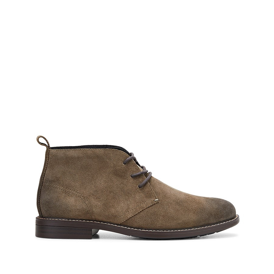 Shoewarehouse Harbour Olive Suede