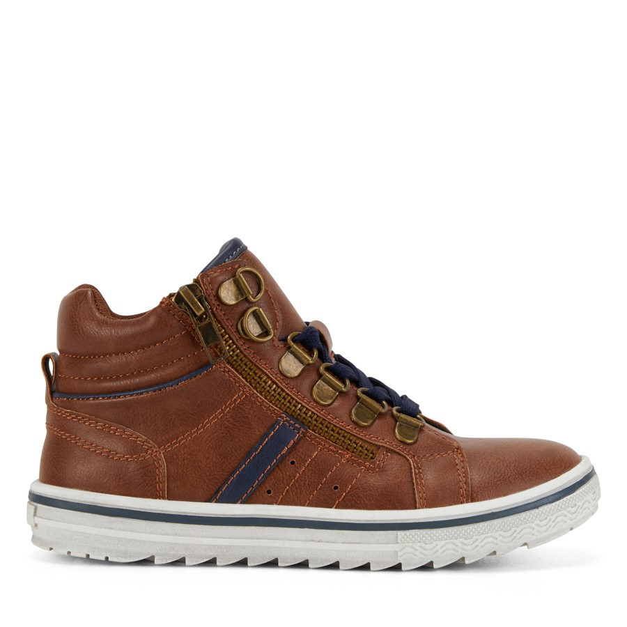 Shoe Warehouse Archie Lace Tan/Navy