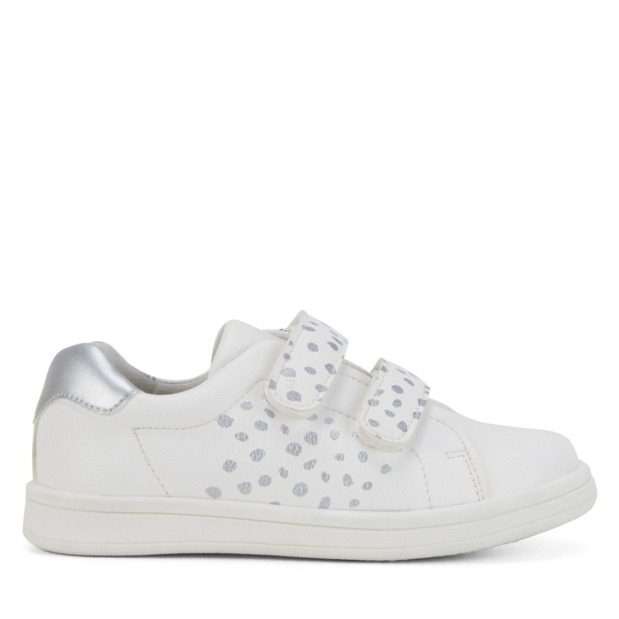 Shoe Warehouse Sara Spot White/Silver