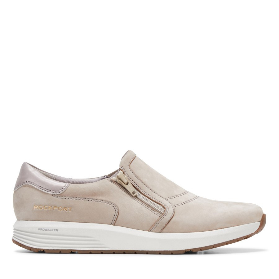 Shoewarehouse Trustride Slipon Taupe