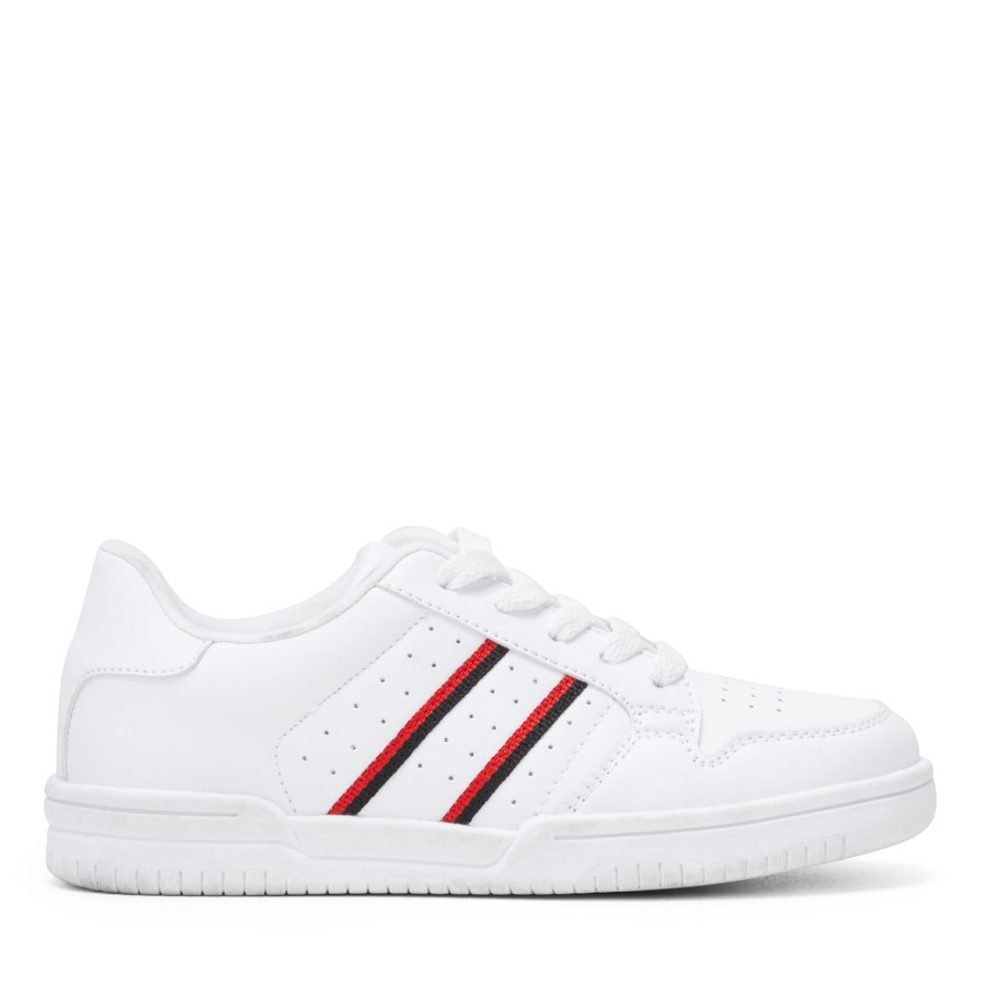Shoe Warehouse Vision Kids White/Red