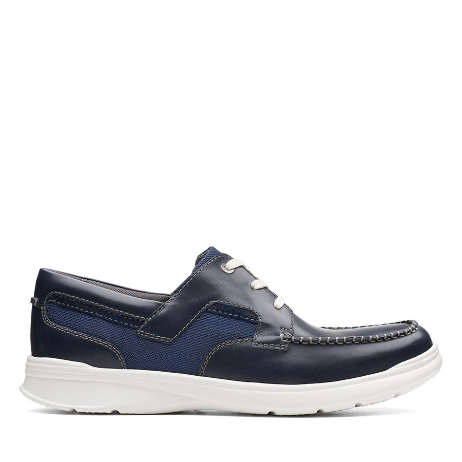 Shoe Warehouse Cotrell Cove Navy Leather