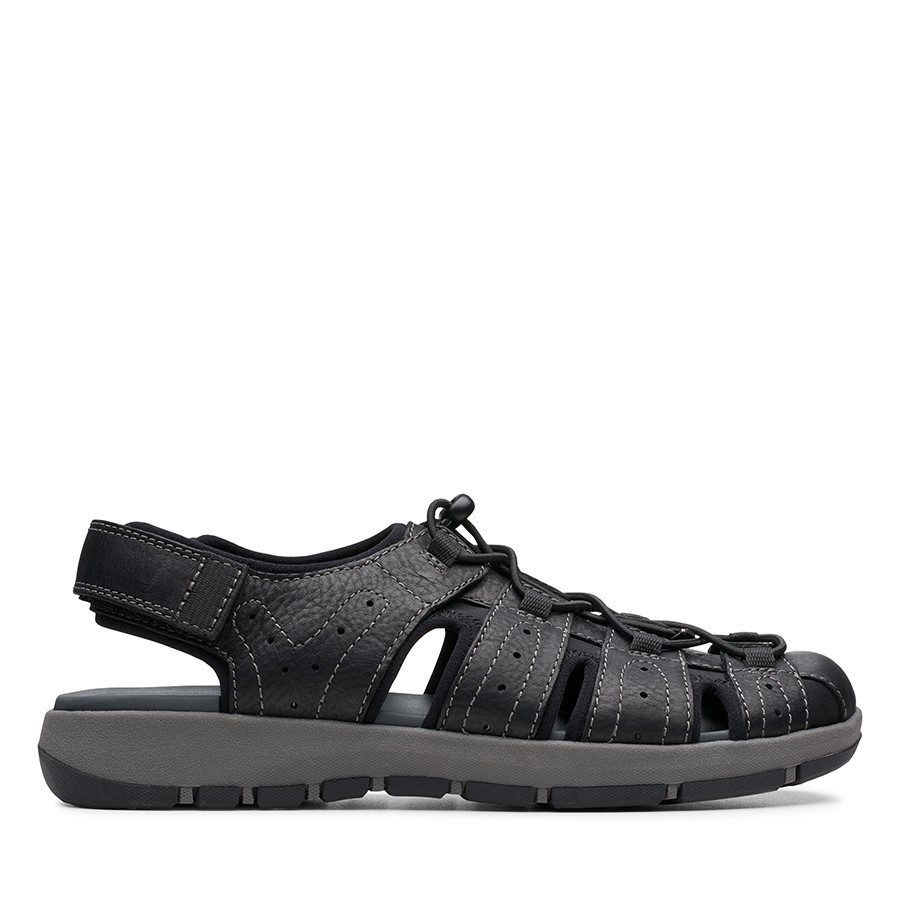 Shoe Warehouse Brixby Cove Black Leather