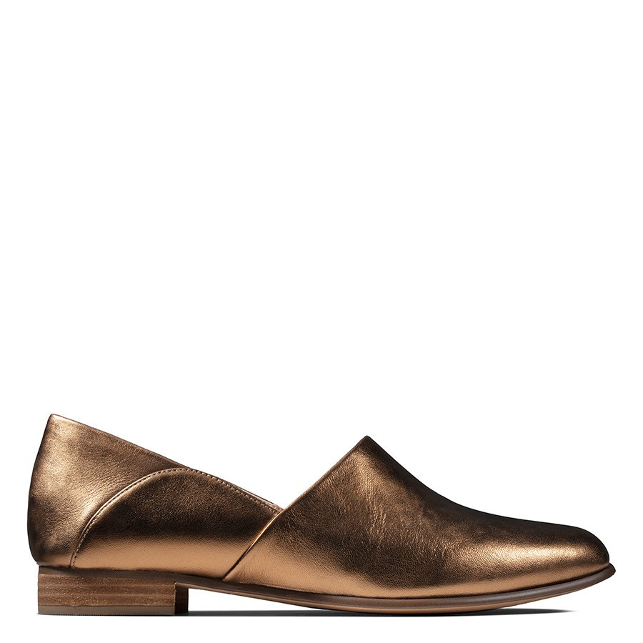 Shoe Warehouse Pure Tone Bronze Metallic