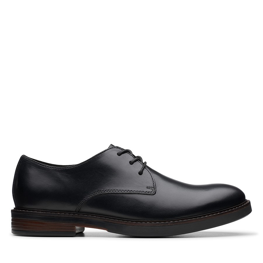 Shoe Warehouse Paulson Plain Black Leather