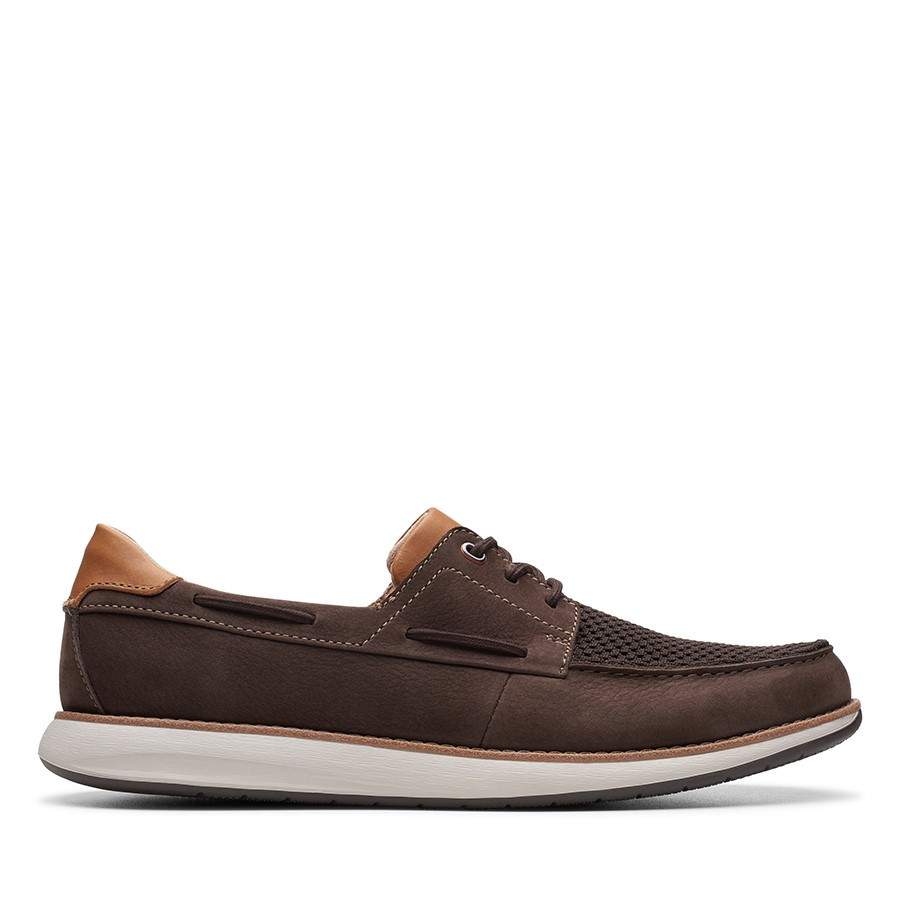 Shoe Warehouse Un Pilot Lace Brown Nubck
