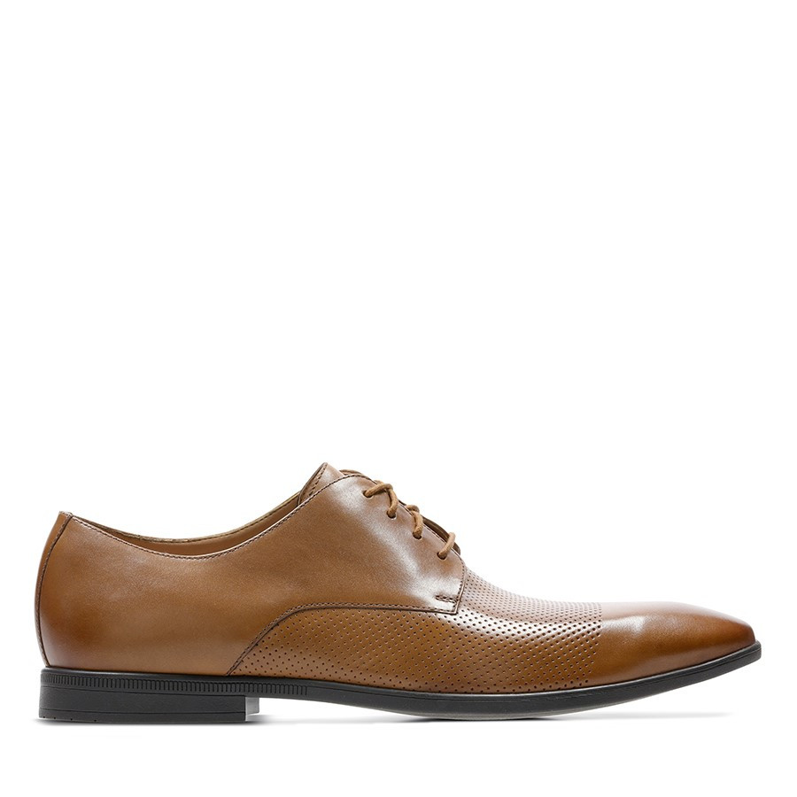 Shoe Warehouse Bampton Cap Tan Leather
