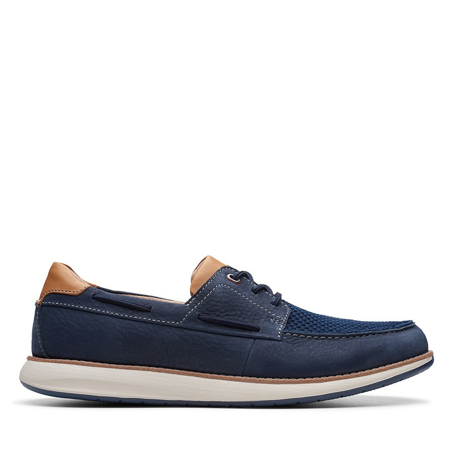 Shoe Warehouse Un Pilot Lace Navy Nubuck