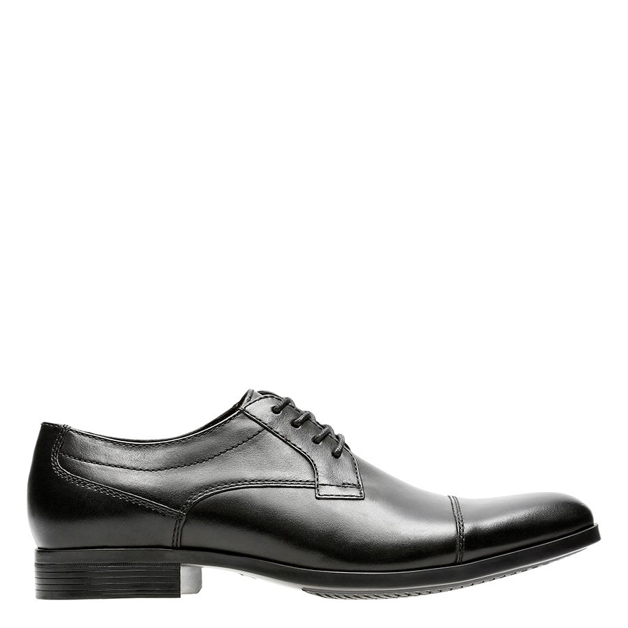Shoe Warehouse Conwell Cap Black Leather
