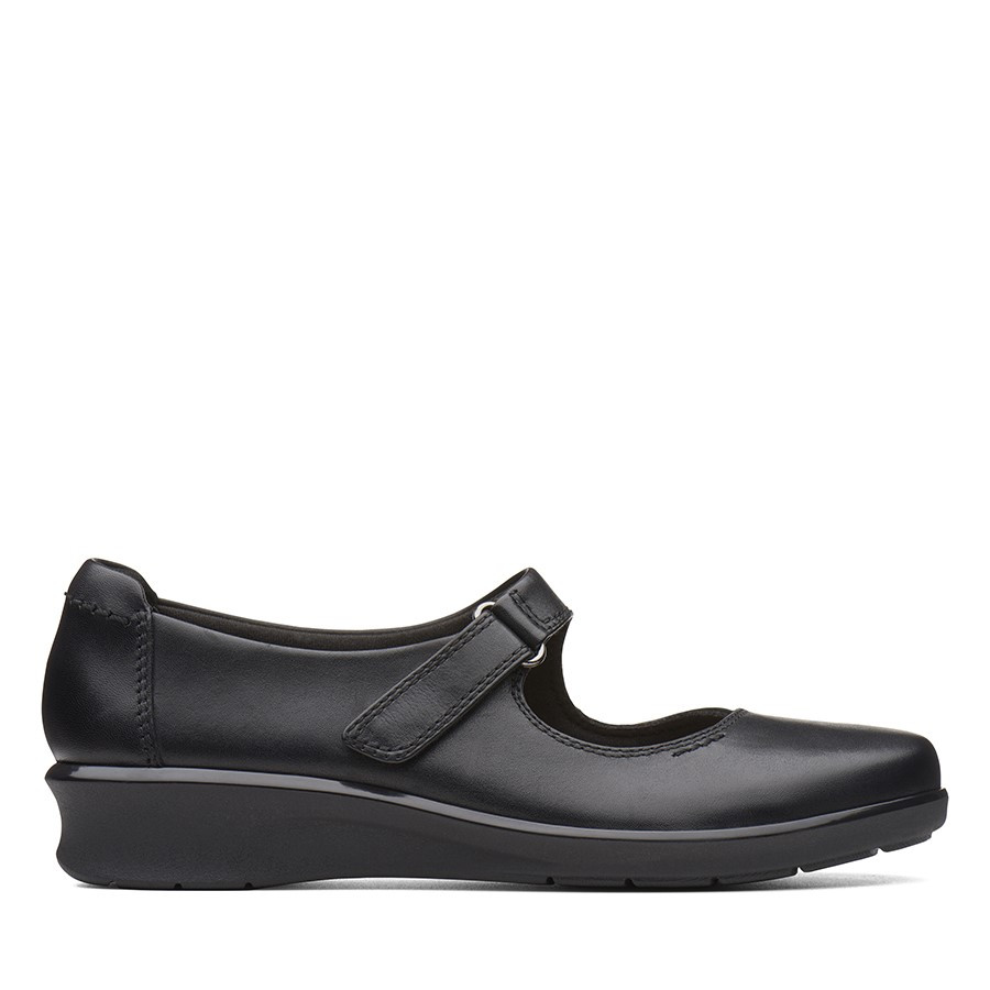 Shoe Warehouse Hope Henley Black Leather