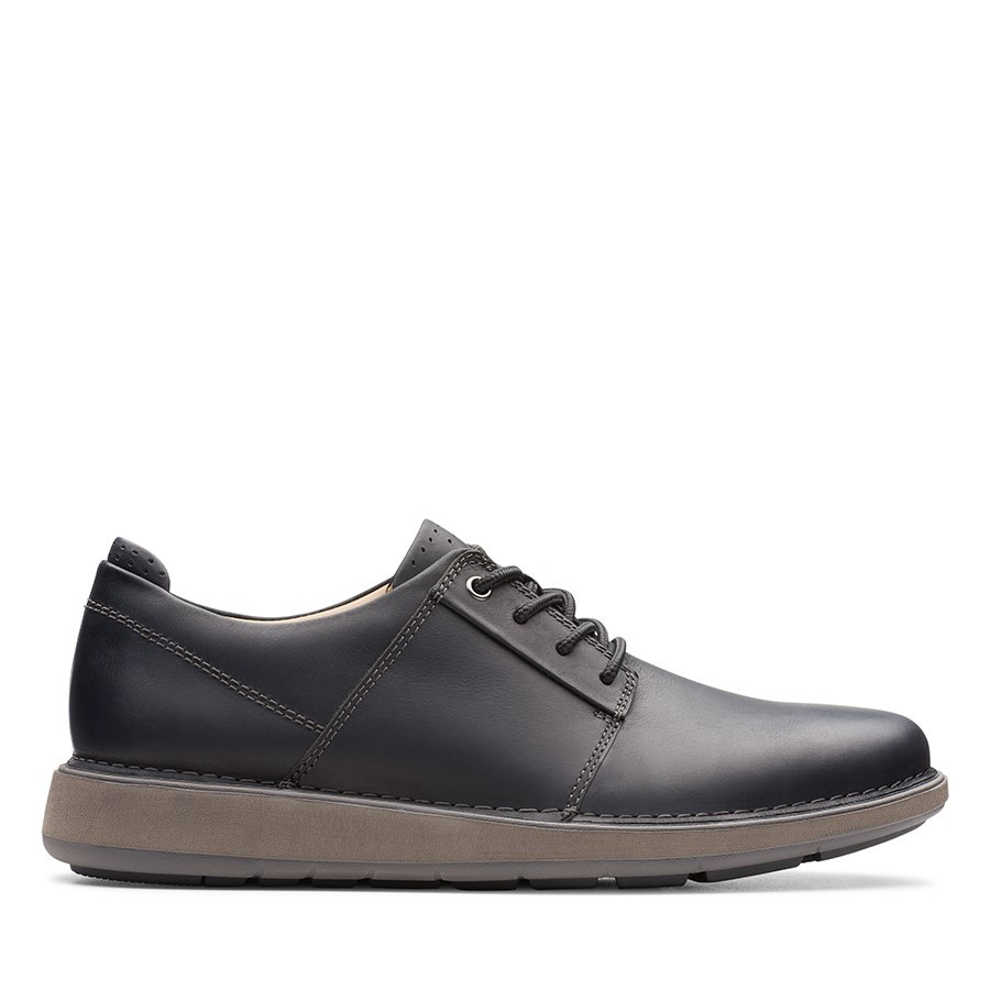 Shoe Warehouse Un Larvik Lace Black Oily Leather