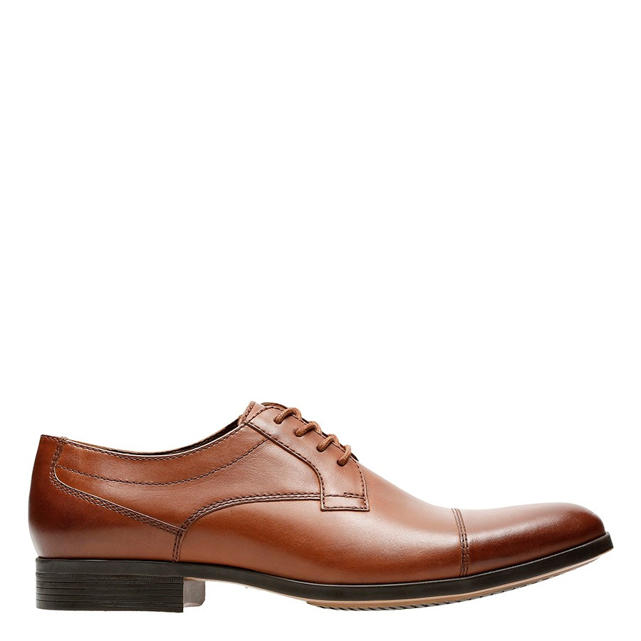 Shoe Warehouse Conwell Cap Tan Leather