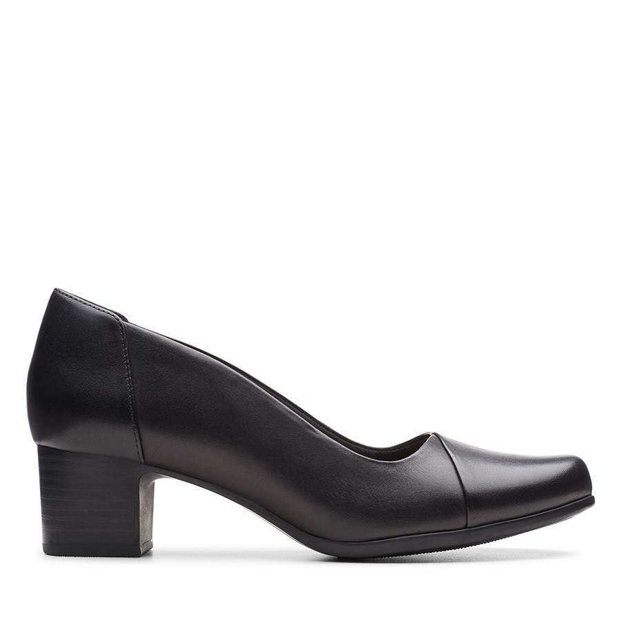 Shoe Warehouse Un Damson Step Black Leather