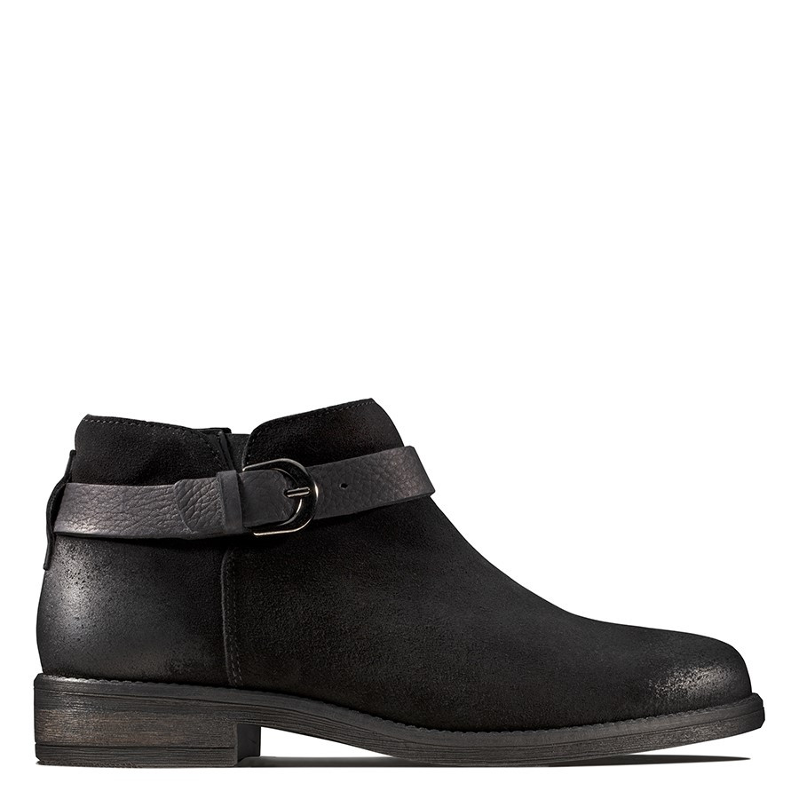 Shoe Warehouse Demi Tone Black Suede