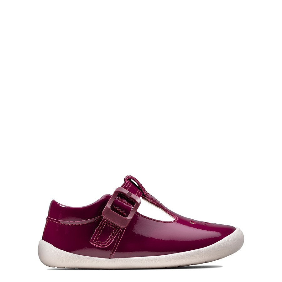 Shoe Warehouse Roamer Star T Plum Patent