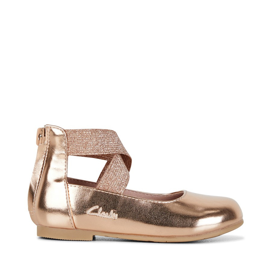 Shoe Warehouse Abigail Jnr Rose Gold