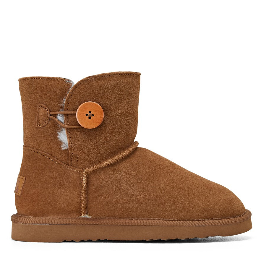 Shoewarehouse Button Ugg Chestnut