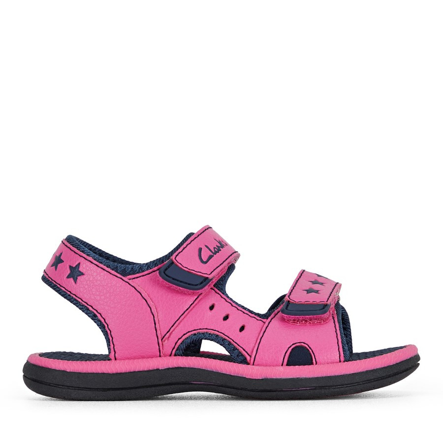Shoewarehouse Flip Fuchsia/Navy