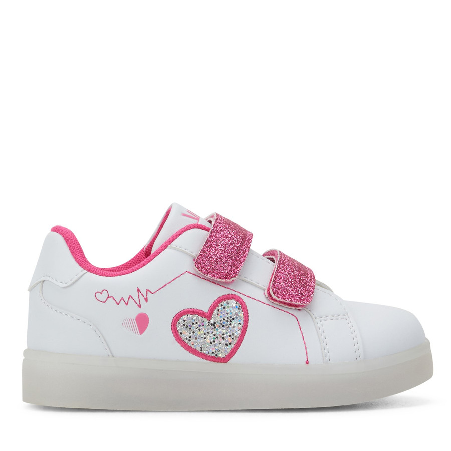 Shoe Warehouse Miley White/Pink