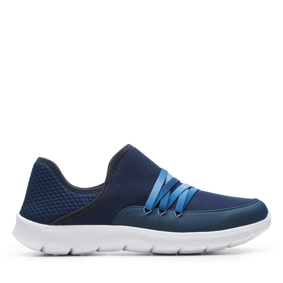 Shoe Warehouse Step Allena Hi Navy Textile