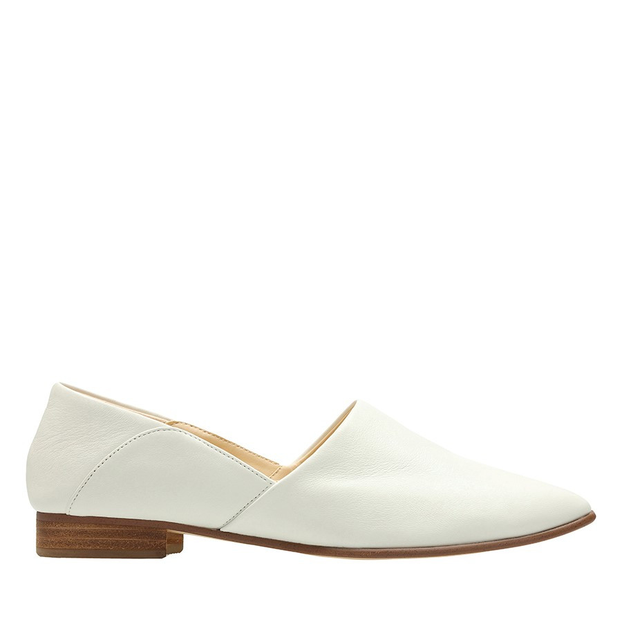Shoe Warehouse Pure Tone White Leather
