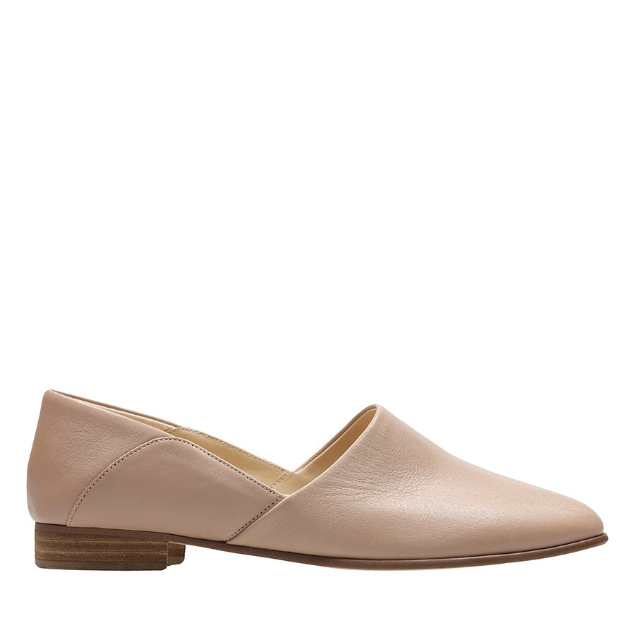 Shoe Warehouse Pure Tone Nude Leather