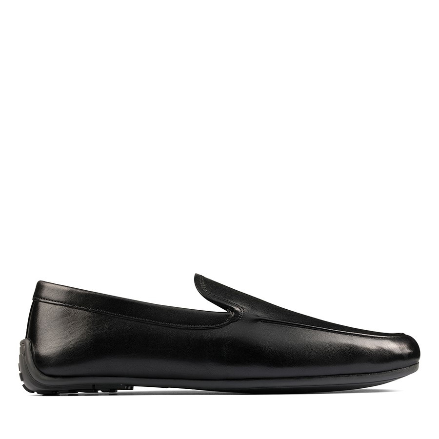 Shoe Warehouse Reazor Plain Black Leather