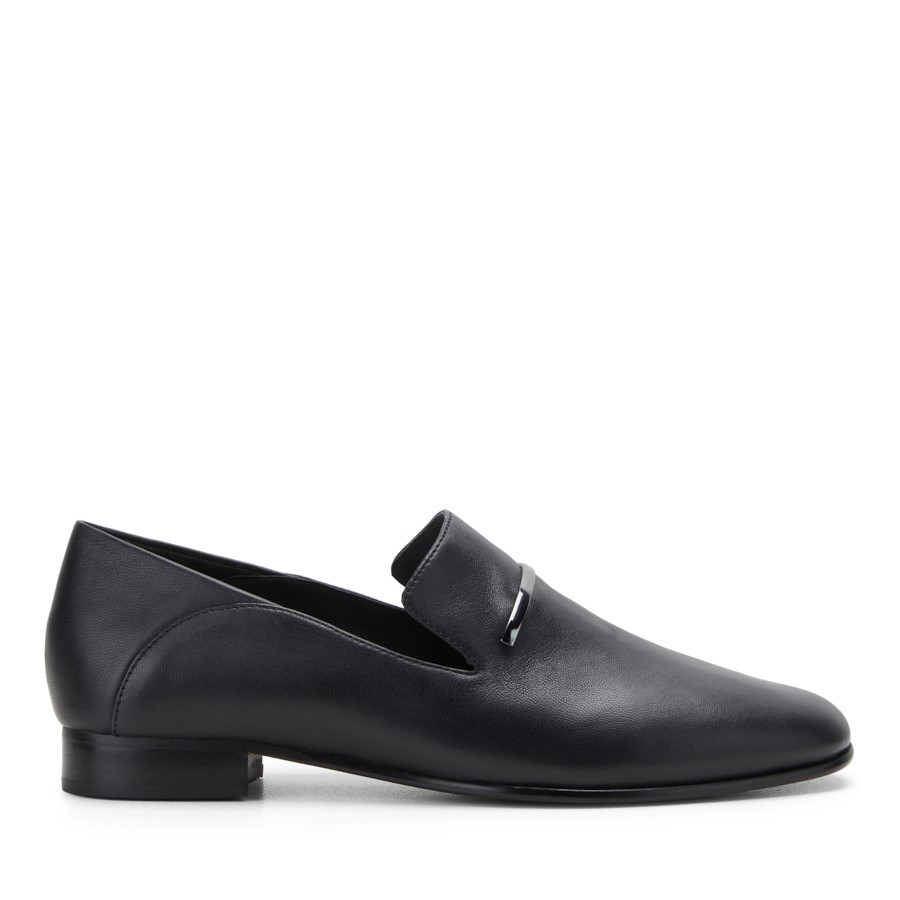 Shoe Warehouse Pureviola Trim Black Leather