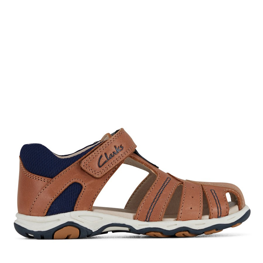 Shoe Warehouse Owen Jnr Tan/Navy