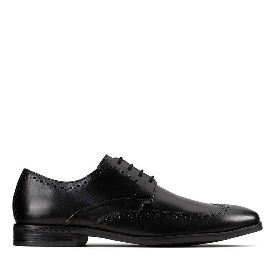 Shoe Warehouse Stanford Limit Black Leather