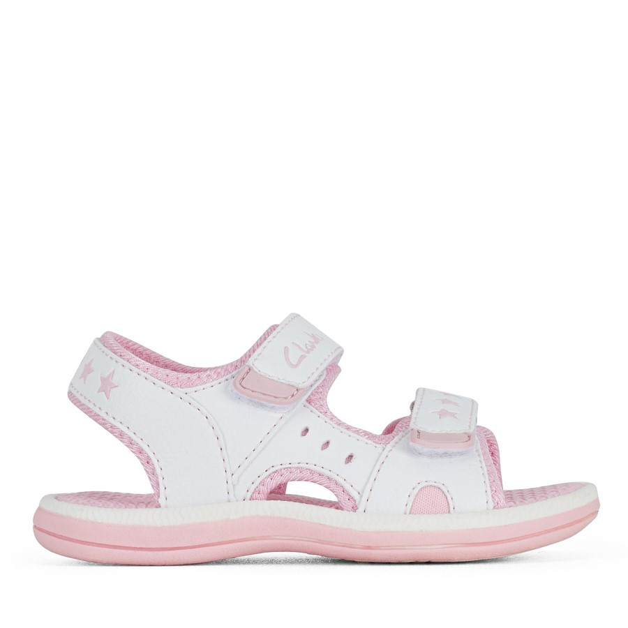 Shoewarehouse Flip White/Pink
