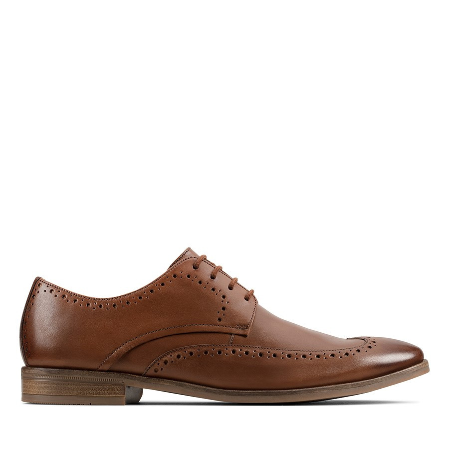 Shoe Warehouse Stanford Limit Tan Leather
