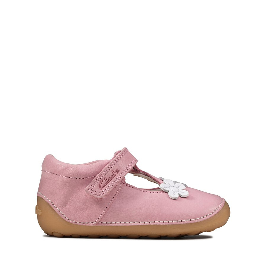 Shoewarehouse Tiny Sun T Pink Leather